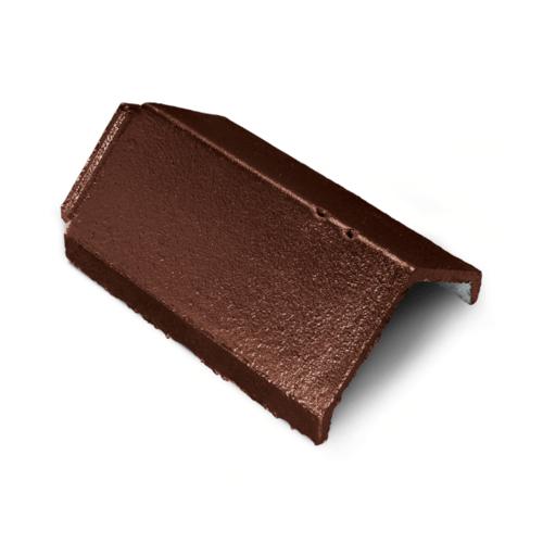 ตราเพชร ครอบสันหลังคา กระเบื้องอดามัส ขนาด 25x35.7 ซม. สีน้ำตาลอิตัลไทย