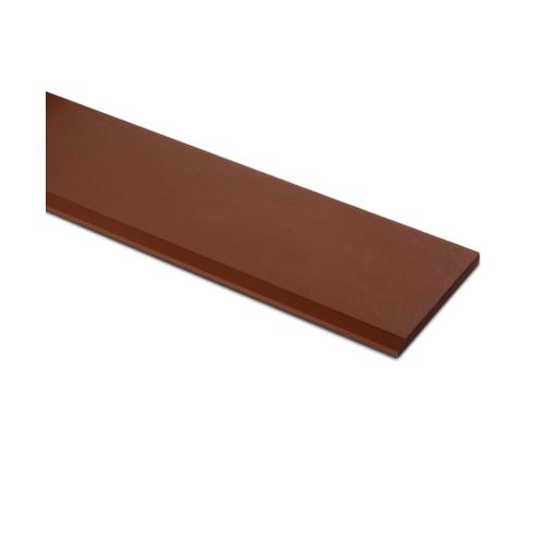 ตราเพชร ไม้เชิงชาย แบบเรียบลบมุม รุ่น หน้า 6 นิ้ว ยาว 3 ม. ขนาด 1.6x15x300 ซม. สีรองพื้นสักทอง