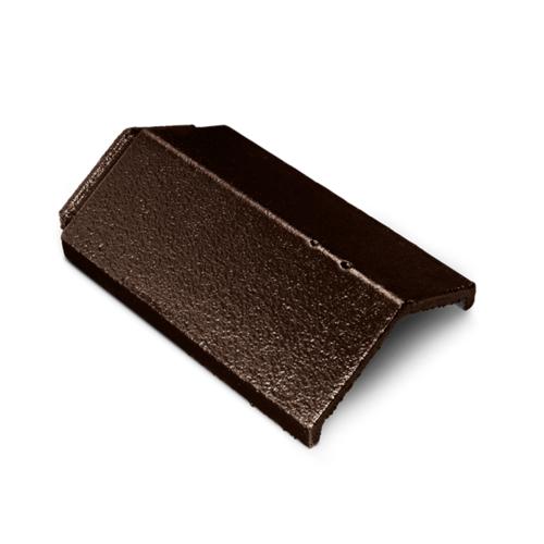 ตราเพชร ครอบสันตะเข้ กระเบื้องอดามัส ขนาด 24.5x35.7 ซม. สีน้ำตาลแบล็ควูด