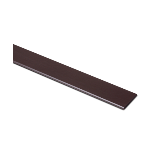 ตราเพชร ไม้ระแนง แบบเรียบลบมุม รุ่น หน้า 3 นิ้ว ยาว 3 ม. ขนาด 0.8x7.5x300 ซม. สีน้ำตาลอินทนิล