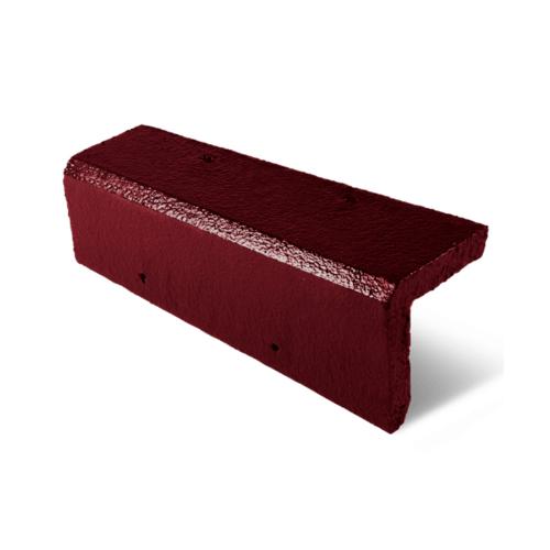 ตราเพชร ครอบข้าง กระเบื้องอดามัส ขนาด 20x42 ซม. สีแดงสุริยา