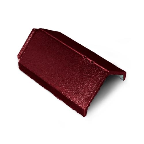 ตราเพชร ครอบสันหลังคา กระเบื้องอดามัส ขนาด 25x35.7 ซม. สีแดงสุริยา