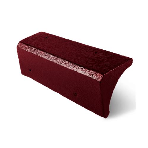 ตราเพชร ครอบปิดชาย กระเบื้องอดามัส ขนาด 20x35 ซม. สีแดงสุริยา