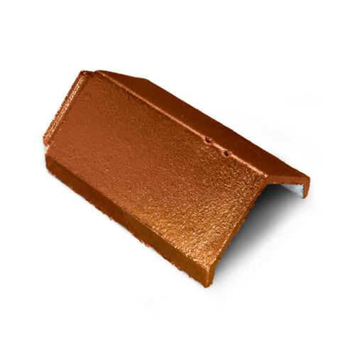 ตราเพชร ครอบสันหลังคา กระเบื้องอดามัส ขนาด 25x35.7 ซม. สีส้มประกายอำพัน
