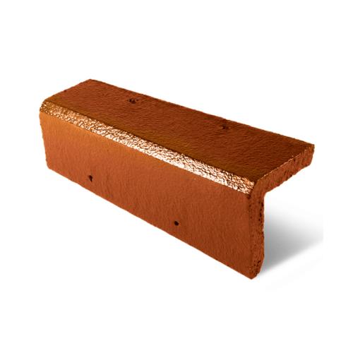 ตราเพชร ครอบข้าง กระเบื้องอดามัส ขนาด 20x42 ซม. สีส้มประกายอำพัน