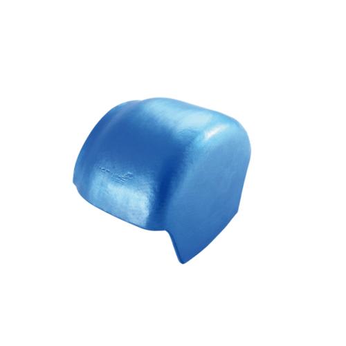 ตราเพชร ครอบปิดจั่ว กระเบื้องจตุลอน ขนาด 21.5x31 ซม สีฟ้าประกายเพชร