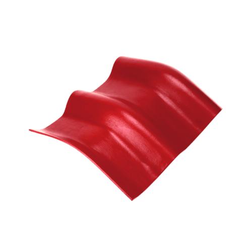 ตราเพชร ครอบมุมองศา 10 องศา กระเบื้องลอนคู่ ขนาด 48x41 ซม. สีแดงประกายเพชร