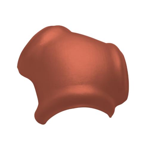 ตราเพชร ครอบ 3 ทาง รูปตัว Y กระเบื้องจตุลอน ขนาด 40.5x45 ซม สีส้มทองมังกร