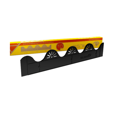 ตราเพชร แผ่นปิดกันนก รุ่น จตุลอน ขนาด 9x49x0.4 ซม.