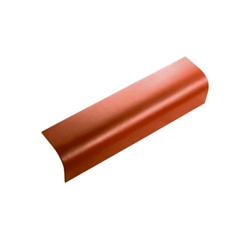 ตราเพชร ครอบข้าง กระเบื้องลอนคู่ ขนาด 19.5x60 ซม. สีส้มประกายเพชร