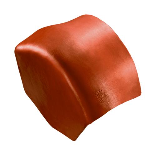 ตราเพชร ครอบปิดจั่วสันโค้ง กระเบื้องลอนคู่ ขนาด 27.5x15.5 ซม. สีส้มประกายเพชร