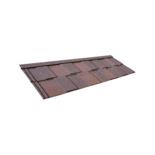 ตราเพชร แผ่นหลังคาเหล็กเดครา รุ่น ซีเนเตอร์ ชิงเกิ้ล ขนาด 132.5x43 ซม. สี Bark