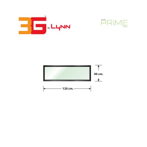 3G หน้าต่างบานช่องแสงติดตาย (PS) 120 cm. x 40 cm. Prime สีดำเงา