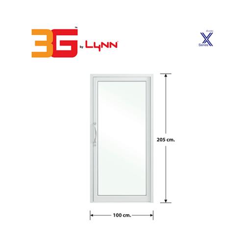 3G ประตูบานสวิงเดี่ยว  ขนาด 1.00x2.05 เมตร สีขาว