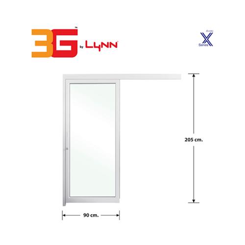 3G ประตูบานเลื่อนแขวนเดี่ยว.  ขนาด 0.90x2.05 m สีขาว