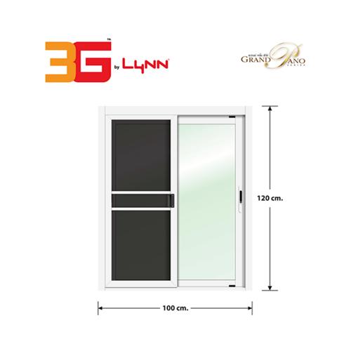 3G หน้าต่างบานเลื่อนสลับ SS (GP) ขนาด 100cm.x120cm. พร้อมมุ้ง Grand Pano Series สีขาว