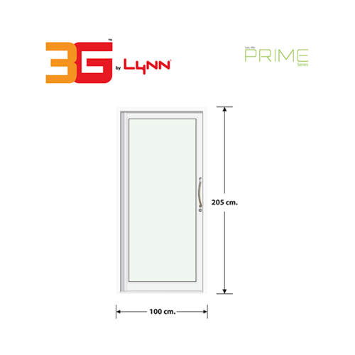 3G ประตูบานสวิงเดี่ยวเสากลม SAFETY ขนาด 100x205 เซนติเมตร Prime