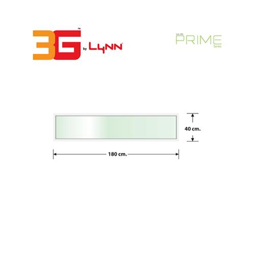 3G หน้าต่างช่องแสงบานติดตาย(PS) 180 x 40ซม. PRIME  สีขาว