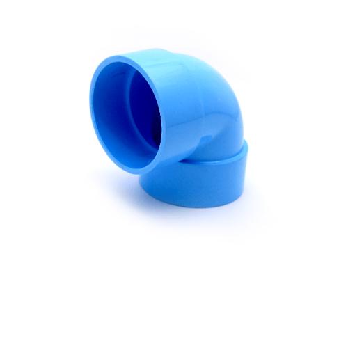 AAA ข้องอ 90 แบบบาง 8นิ้ว (200)  ชั้น 8.5  สีฟ้า