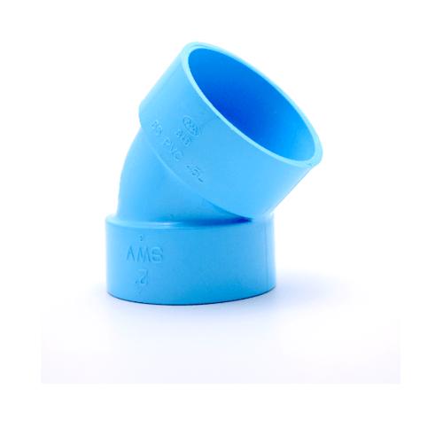 AAA ข้องอ 45 แบบบาง 6 นิ้ว (150)  ชั้น 8.5  สีฟ้า