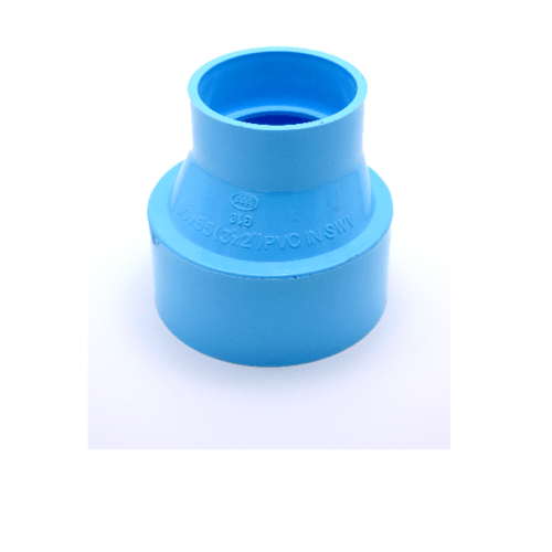 AAA  ข้อต่อตรงลด แบบบาง  3นิ้ว X 1 1/2นิ้ว(80X40) ชั้น 8.5  สีฟ้า