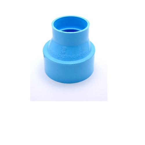 AAA ข้อต่อตรงลด  แบบบาง 3นิ้ว X 2 1/2นิ้ว(80X65) ชั้น 8.5  สีฟ้า