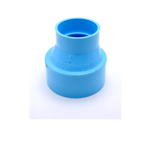 AAA ข้อต่อตรงลด  แบบบาง 4นิ้ว X 3นิ้ว(100X80) ชั้น 8.5  สีฟ้า