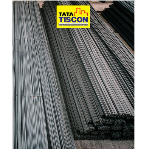 TATA TISCON เหล็กเส้นกลม-ตรง 9มม.ยาว 10เมตร SR24 สีดำ