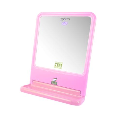 PIXO กระจกเงาแบบเหลี่ยม MS01 สีชมพู