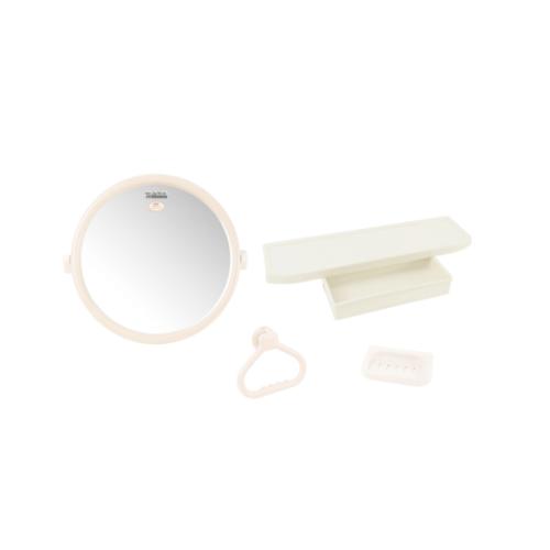 PIXO กระจกชุด4ชิ้นแบบกลม MS 02 สีขาว