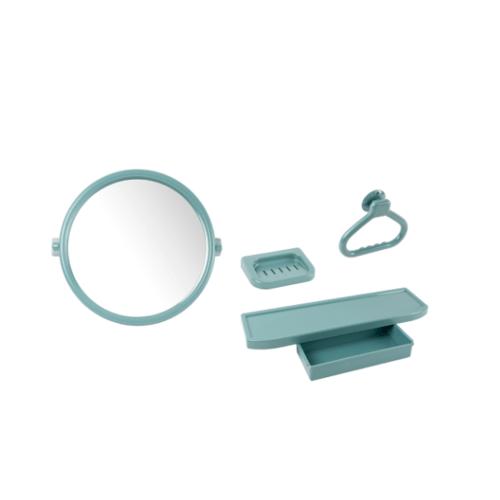 PIXO กระจกชุด 4 ชิ้นแบบกลม MS 02 สีเทา