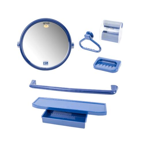 PIXO กระจกชุด6ชิ้น แบบกลม MS012 สีน้ำเงิน