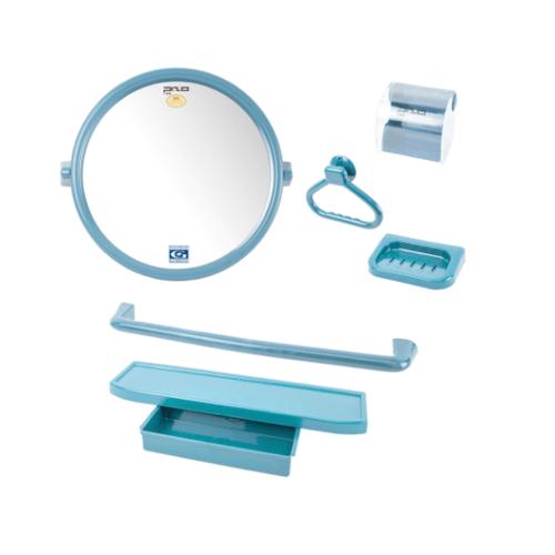 PIXO กระจกชุด6ชิ้น แบบกลม MS012ฟ้า