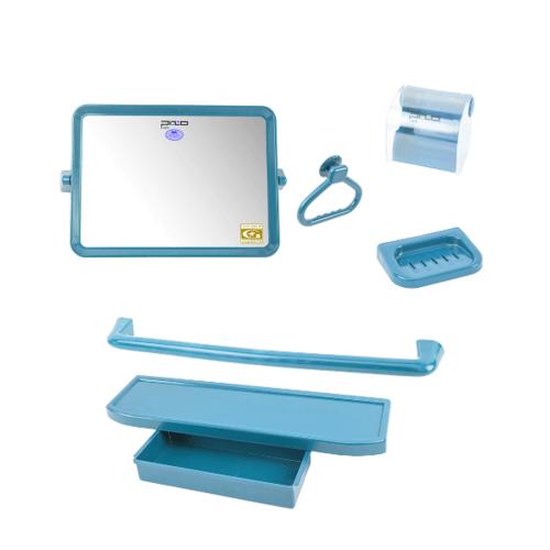 PIXO กระจกชุด6ชิ้น แบบรี MS014 สีฟ้า