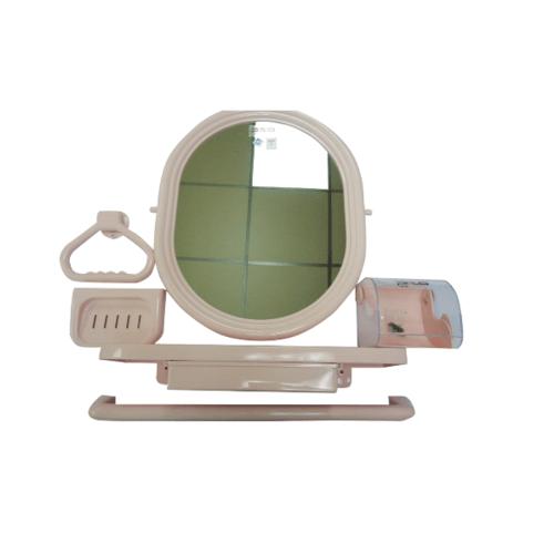 PIXO กระจกชุด6ชิ้นแบบวงรี MS014  ชมพู