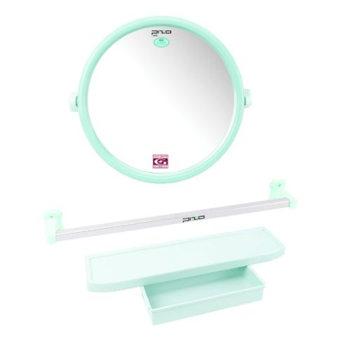 PIXO กระจกชุด3ชิ้น แบบกลม MS08เบร์