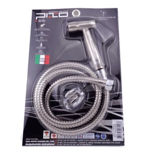 PIXO ชุดสายฉีดชำระหัวสแตนเลสแท้ PS 022 สีโครเมี่ยม