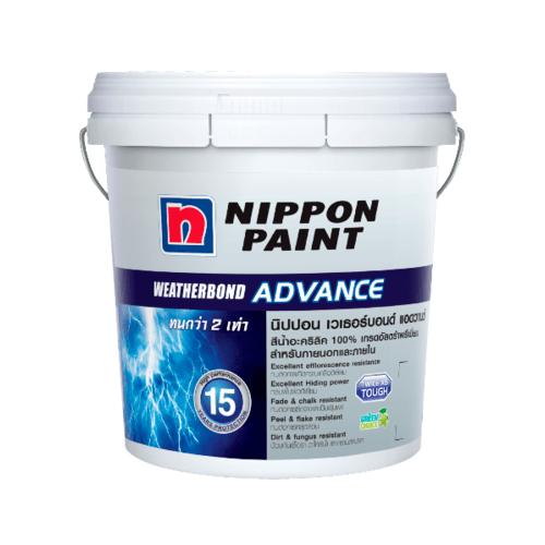 NIPPON สีน้ำอะคริลิกภายนอกนิปปอน เวทเทอร์บอรด์ แอดวาน เบส เอ  - สีขาว