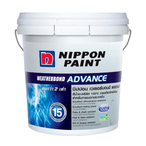 NIPPON สีน้ำอะคริลิก เวทเทอร์บอรด์ แอดวาน ภายนอก เบส C 2.5 GL สีขาว