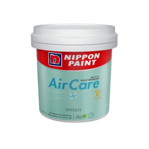 Nippon  สีน้ำอะคริลิกภายใน แอร์แคร์ เนียน เบส A 2.5 แกลลอน  AIRCARE SHEEN  สีขาว