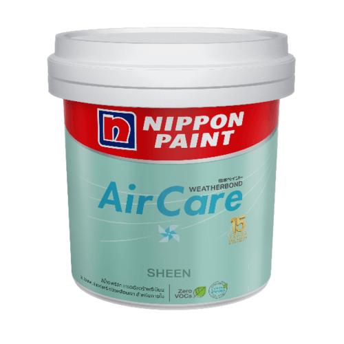 Nippon  สีน้ำอะคริลิกภายใน แอร์แคร์ ฟิล์มเนียน  เบส C 2.5 แกลลอน AIRCARE SHEEN สีขาว