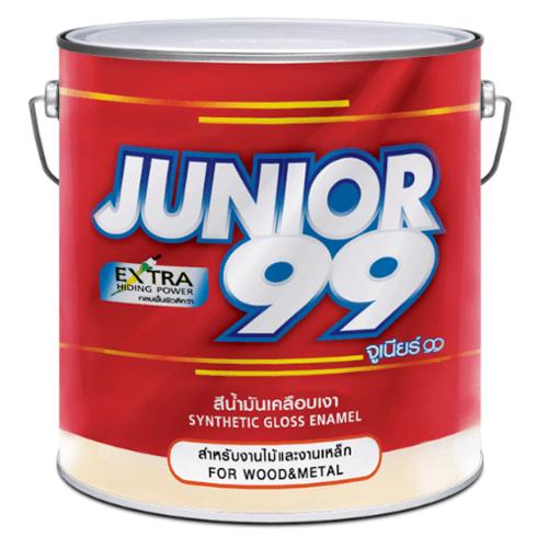 NIPPON JUNIOR สีน้ำมัน นิปปอนจูเนียร์ 99 สีดำด้าน#9741 1/4 กล. JUNIOR 99 ENAMEL  สีดำ