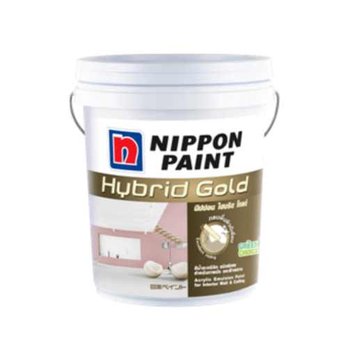 NIPPON สีนิปปอน ไฮบริด โกลด์ Brilliant White # 1001 BRILLIANT WHITE