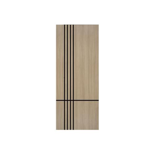 Vanachai ประตู เมลามีน เซาะร่องดำ 80cm.x200cm. Light Teaks  W ME6