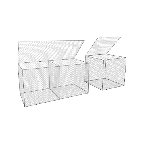 NO Brand  กล่องเกเบี้ยน ขนาด 1x2x1ม.ชนิดไม่หุ้ม PVC ลวดทำโครง3.9มม. GABION BOX Size 1x2x1m.