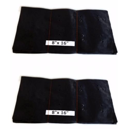 - ถุงเพาะชำ  8x16 นิ้ว - สีดำ