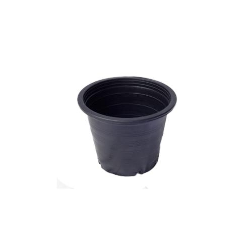 กระถางพลาสติกดำปากตรง 4 นิ้ว ดำ