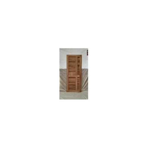 SJK  ประตูไม้สัก ทำร่องพร้อมเกล็ดระบายขนาด 80x200ซม.  SJK012