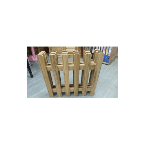 รั้วไม้สักบานพับ 4 พับใหญ่  SJK01 NO COLOR