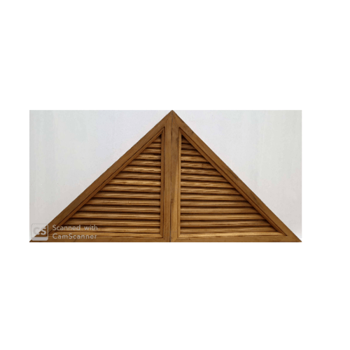 SJK จั่วไม้สักสามเหลี่ยม(คู่) 50x50x70ซม. -